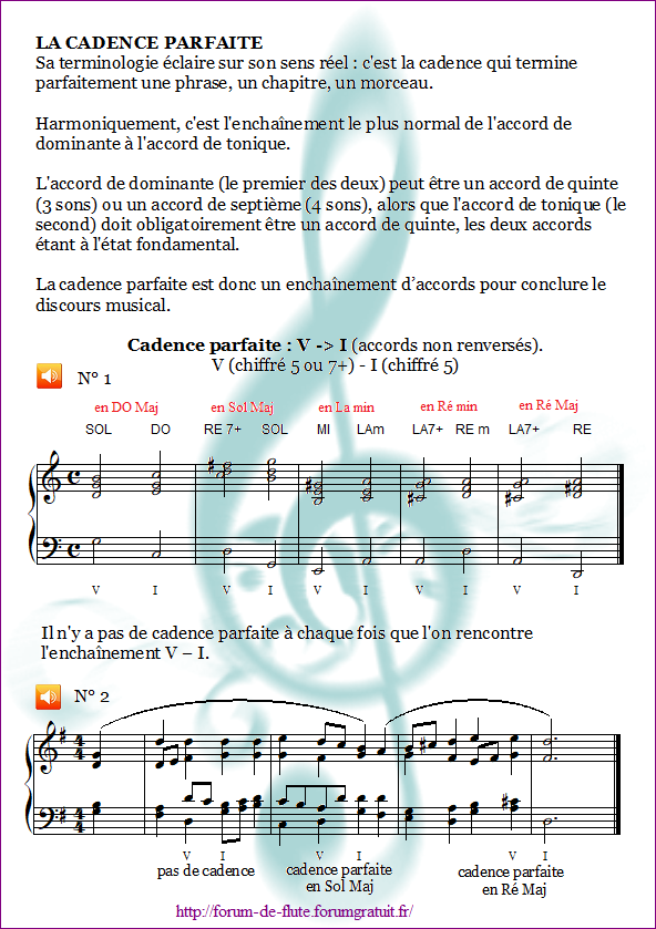 1°) Cadences Cadence2