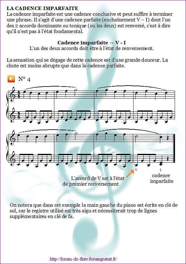 1°) Cadences Cadence4