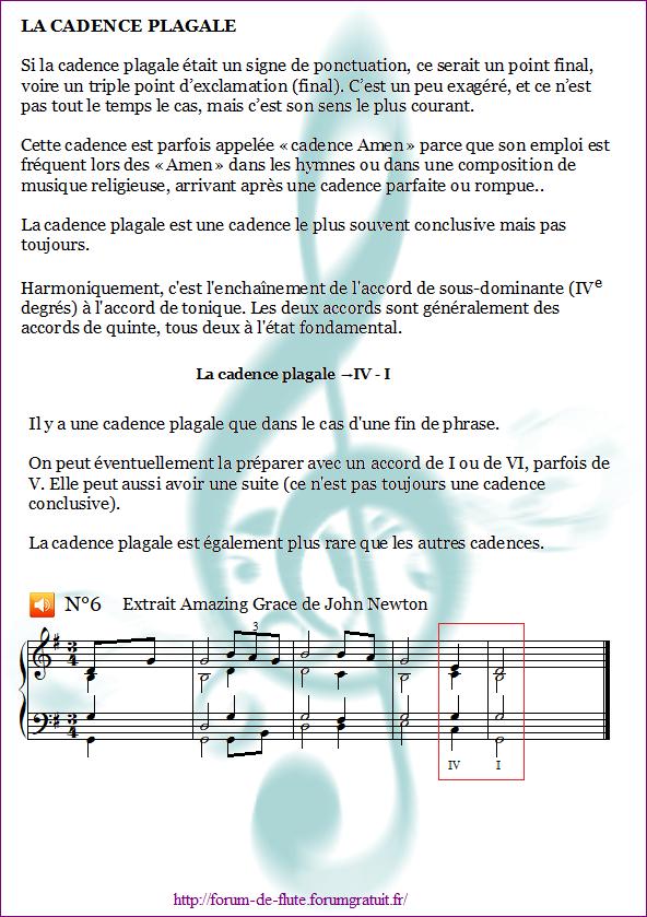 1°) Cadences Cadence6