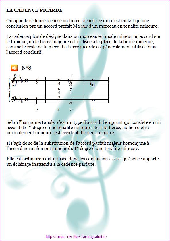 1°) Cadences Cadence8
