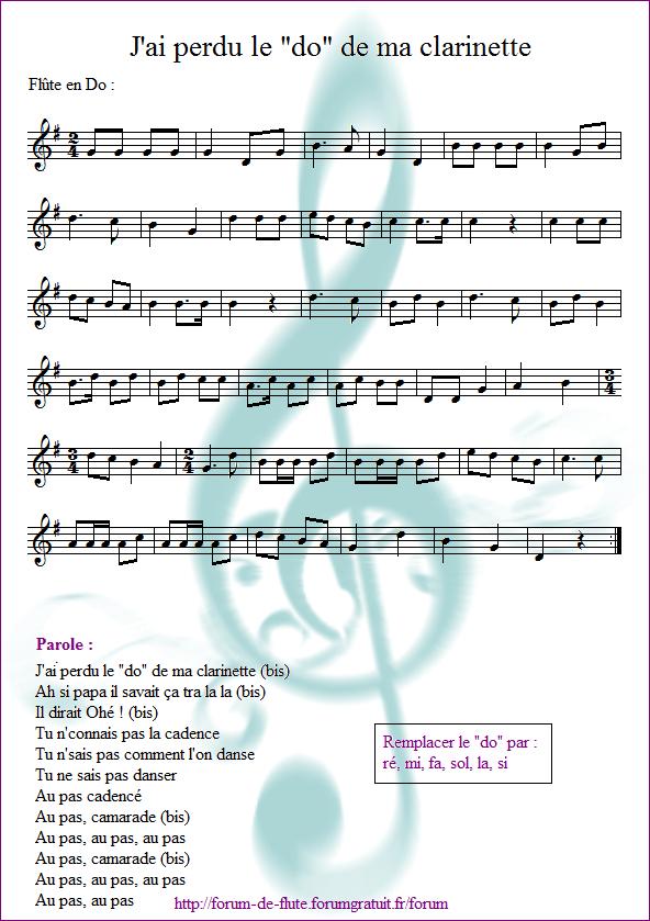 "3) J'ai perdu le ""do"" de ma clarinette J_ai_perdu_le_do_de_ma_clarinette"