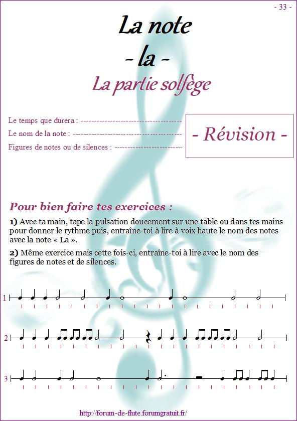 Module 3 : La, Sol, Fa grave - Page 33 à 40 Methode-flute-a-bec-Alto_page-33-note_la