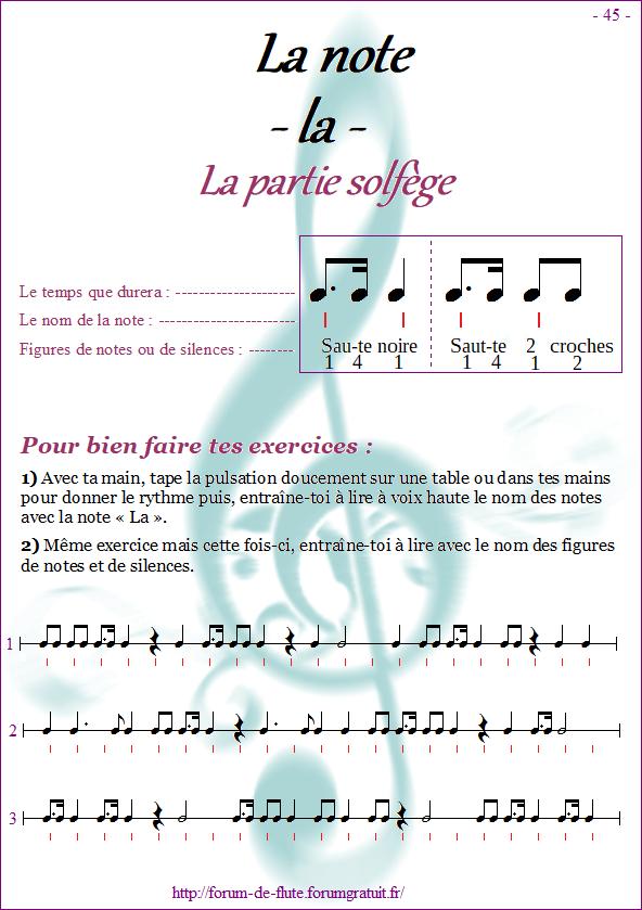 Module 4 : Mib, Si grave, La aigu - Page 41 à 48 Methode-flute-a-bec-Alto_page-45-note_la