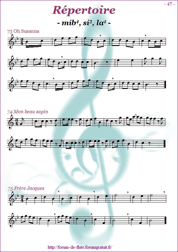 Module 4 : Mib, Si grave, La aigu - Page 41 à 48 Methode-flute-a-bec-Alto_page-47_Repertoire-mib-si-la
