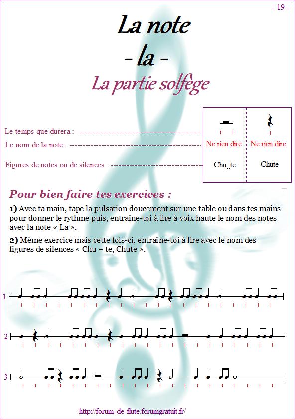Module 1 : Si, La, Sol grave - Page 16 à 24 Methode-flute-a-bec_page-19-note_la