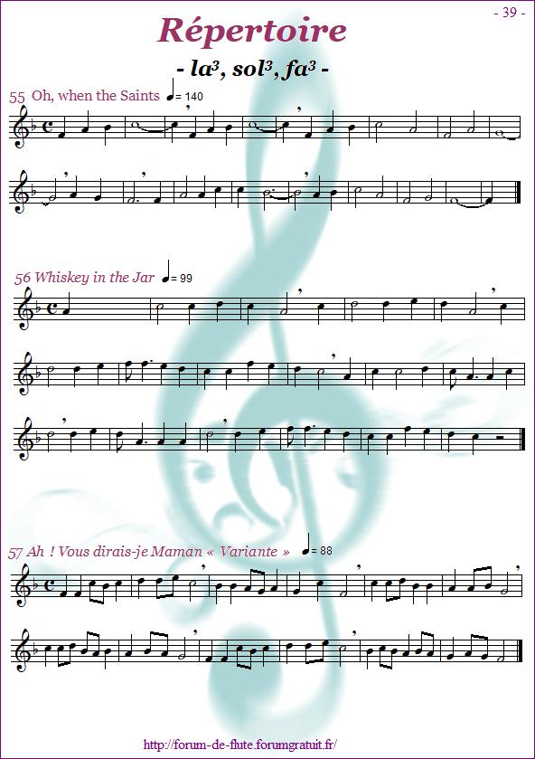 Module 3 : La, Sol, Fa grave - Page 33 à 40 Methode-flute-a-bec_page-39_Repertoire-la-sol-fa