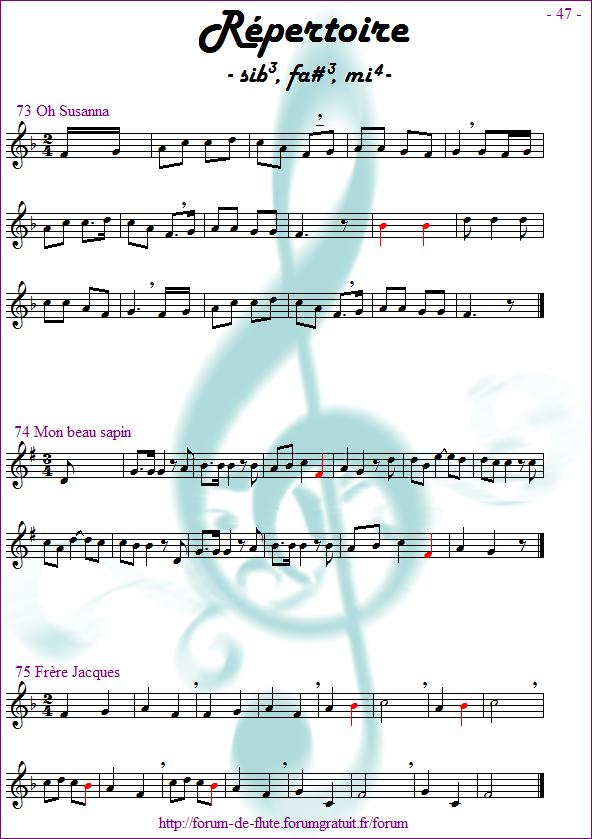 Module 4 : Sib grave, Fa# grave, Mi aigu - Page 41 à 48 Methode-flute-a-bec_page-47_Repertoire-sib-fadiese-mi
