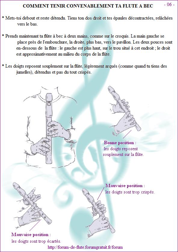 Avant de commencer - Page 1 à 15 Methode-flute-a-bec_page-6-Comment-tenir-ta-flute