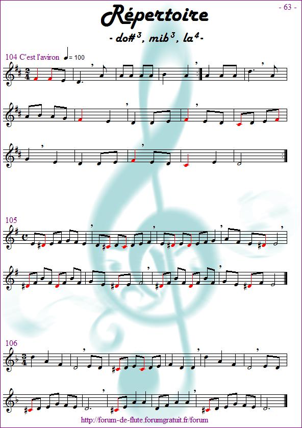 Module 6 : Do# grave, Mib grave, La aigu - Page 57 à 64 Methode-flute-a-bec_page-63_Repertoire-dodiese-mibemol-la